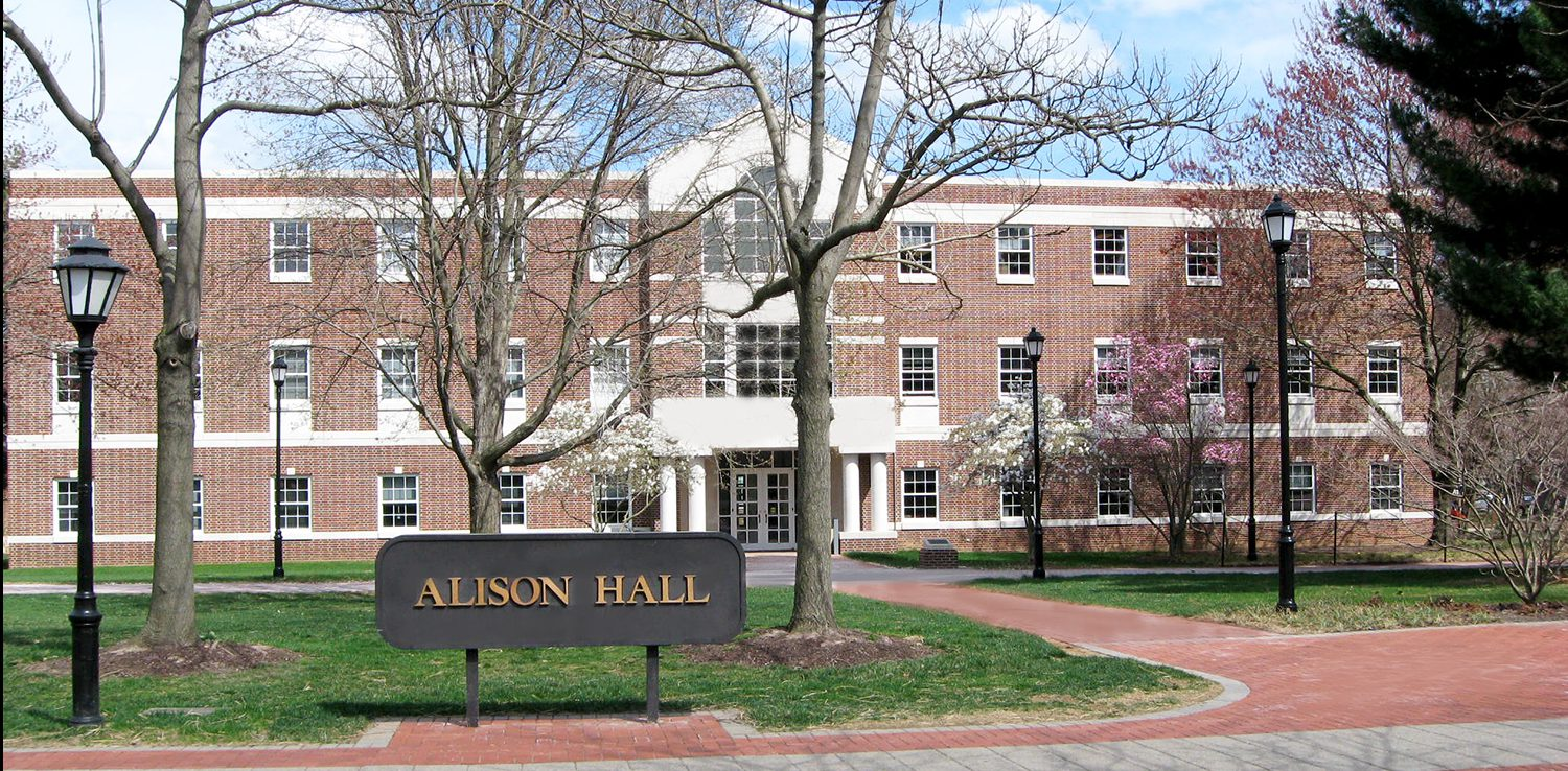 The front entrance to Alison Hall.
