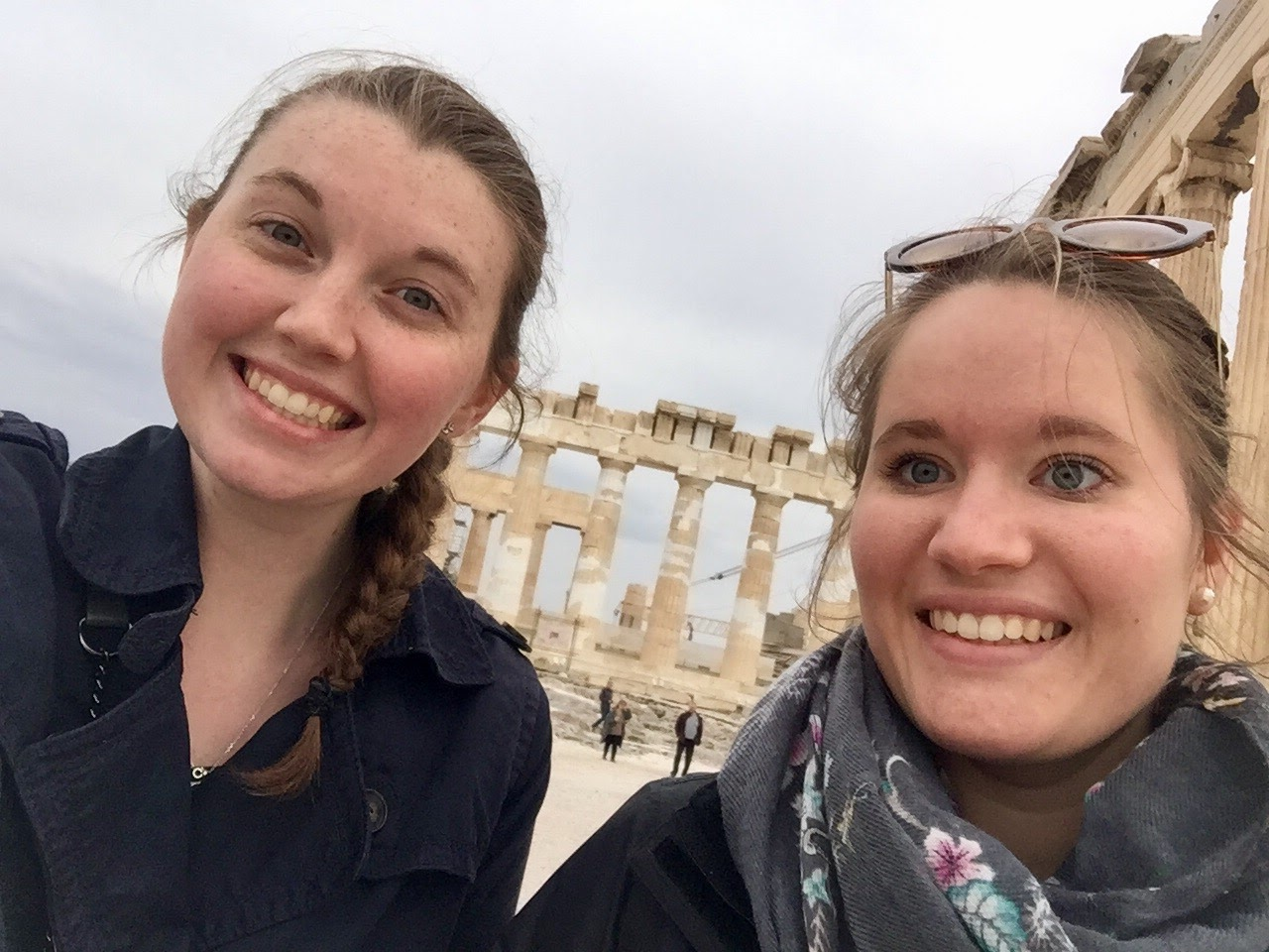 UD student teachers explore Greece during down time.