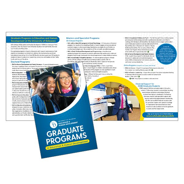 CEHD brochure for graduate programs