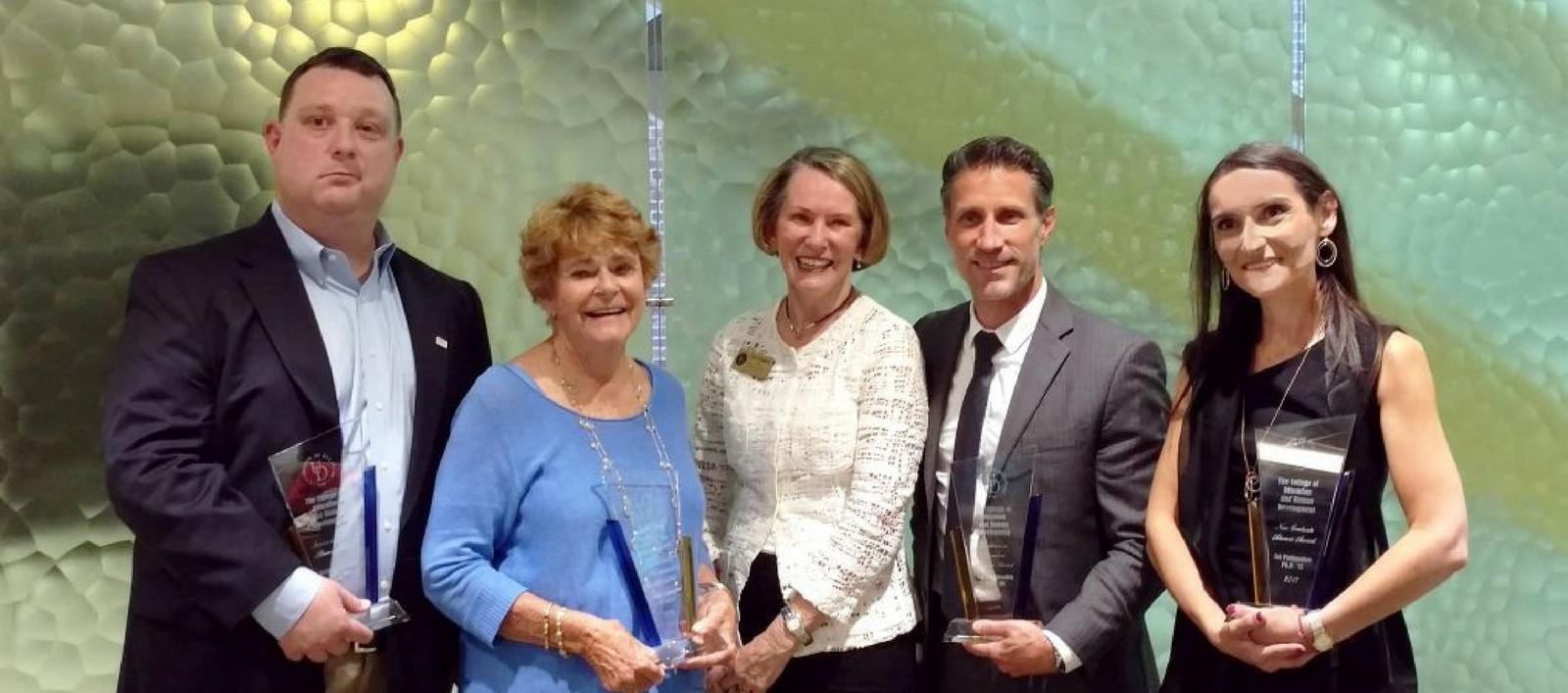 CEHD Alumni award recipients 2017