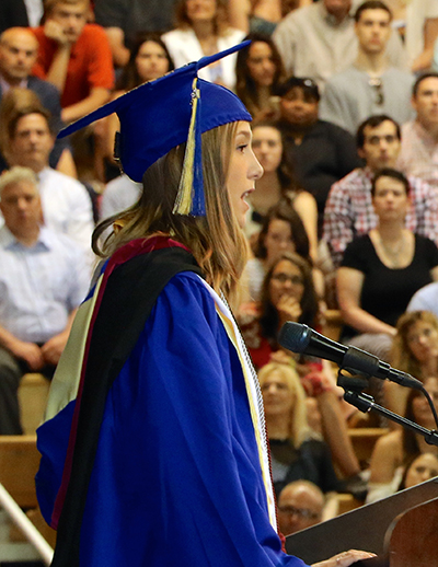 student speaker Carolyn Cameron