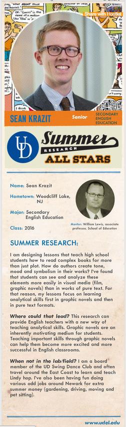 Research baseball card - Sean Krazit