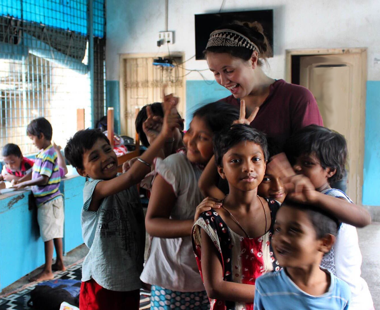 CEHD student helping in India