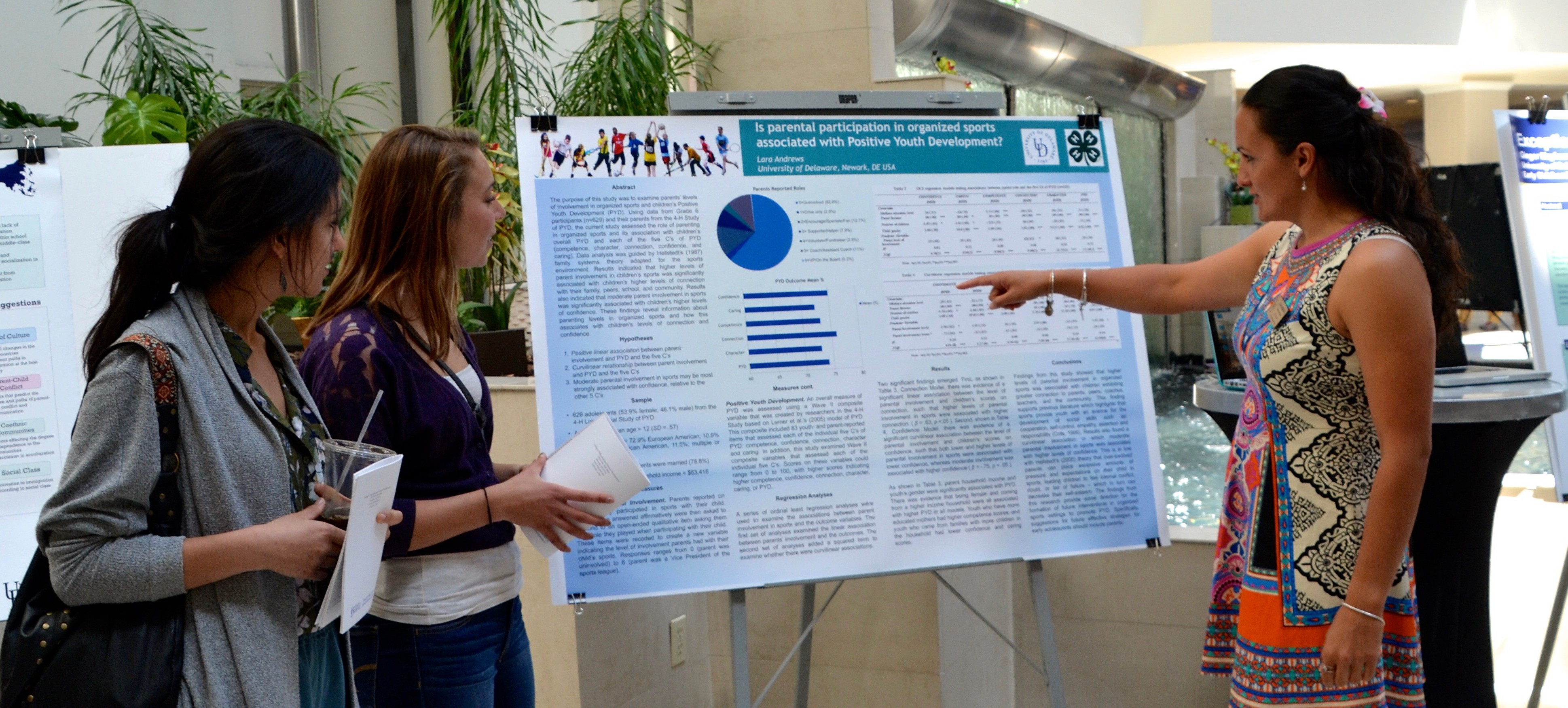 Student presents research at the Steele Symposium