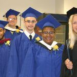 Students and faculty at the CLSC program graduation.