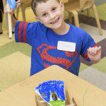 Happy camper at Lab Preschool