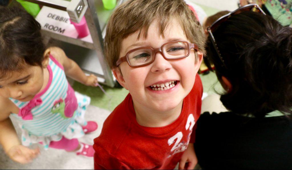 Happy boy at CEHD Children's Campus