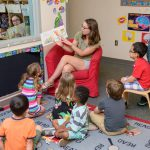 Reading aloud in early learning center