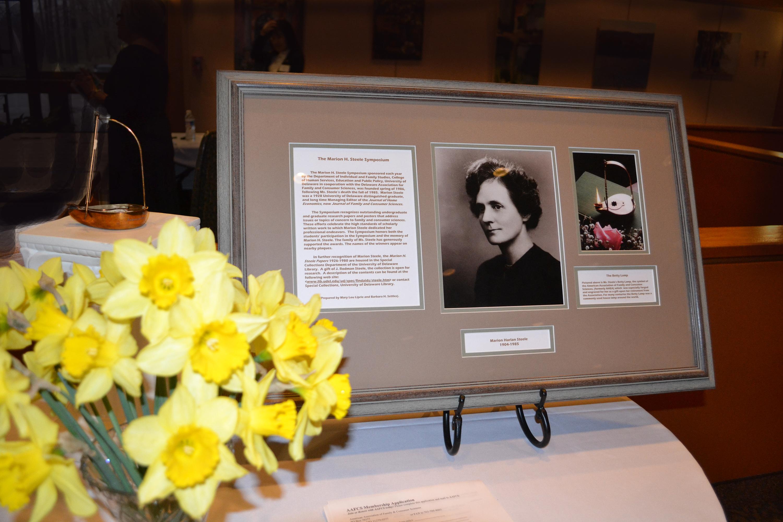 Marion Steele photo plaque lamp