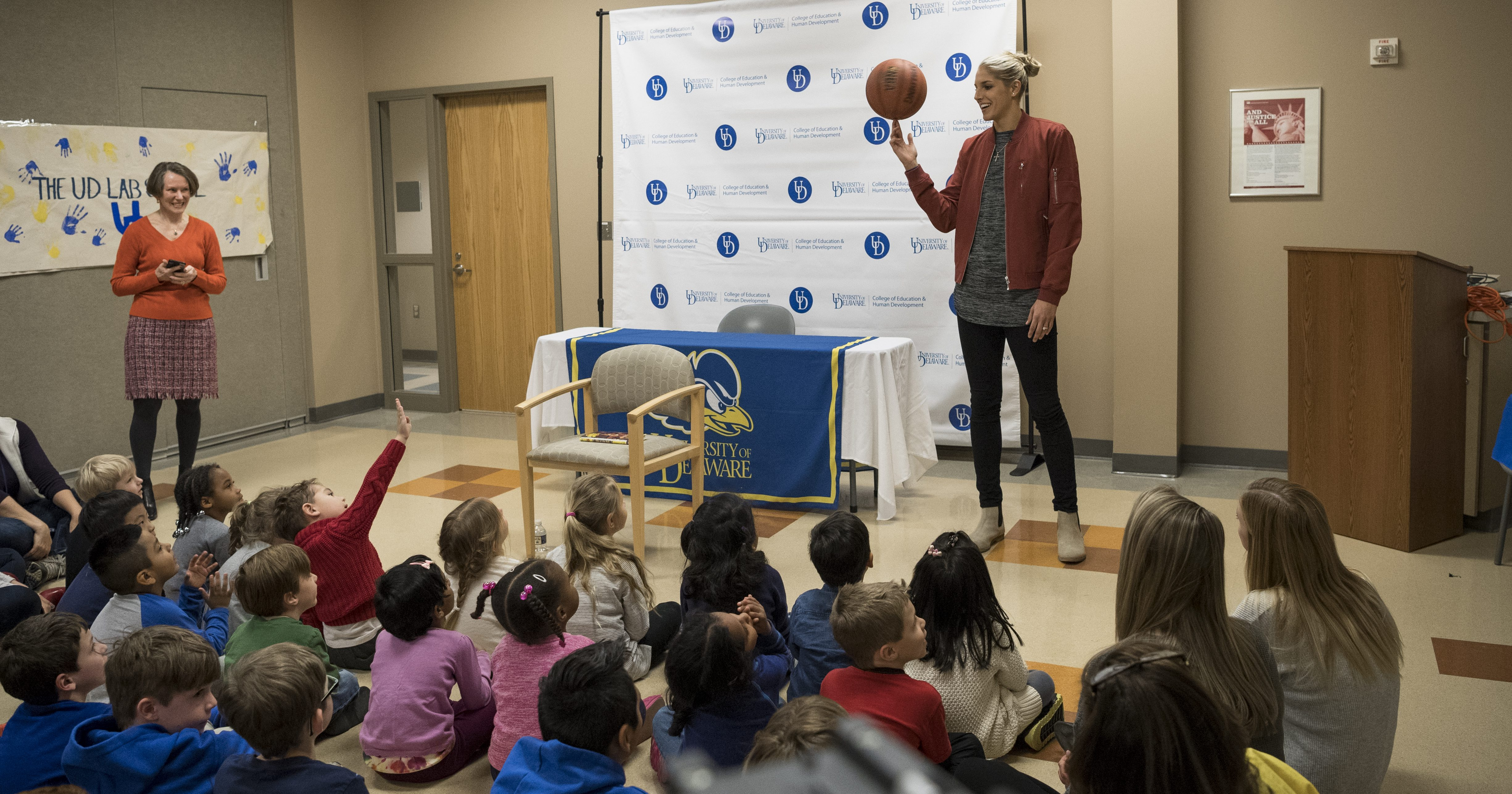Elena Delle Donne Hoops Book Cover Signing