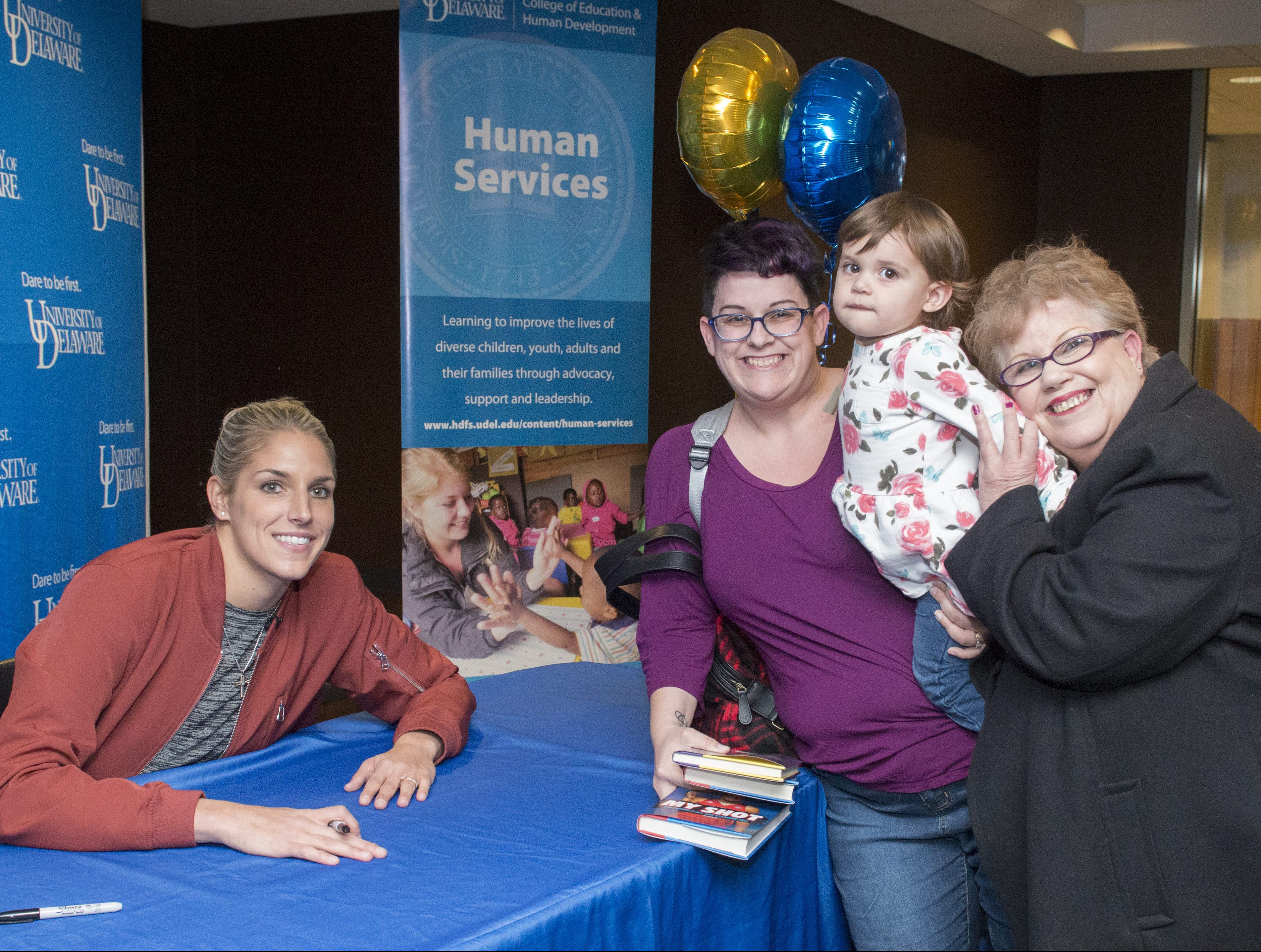 Generations of fans at Elena Delle Donne's book signing