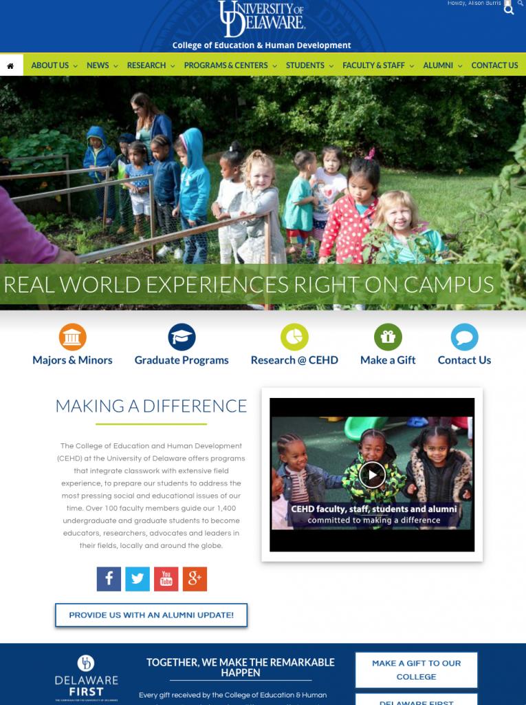 CEHD webpage