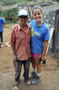 Shelby Dorr poses with man in Nicaragua