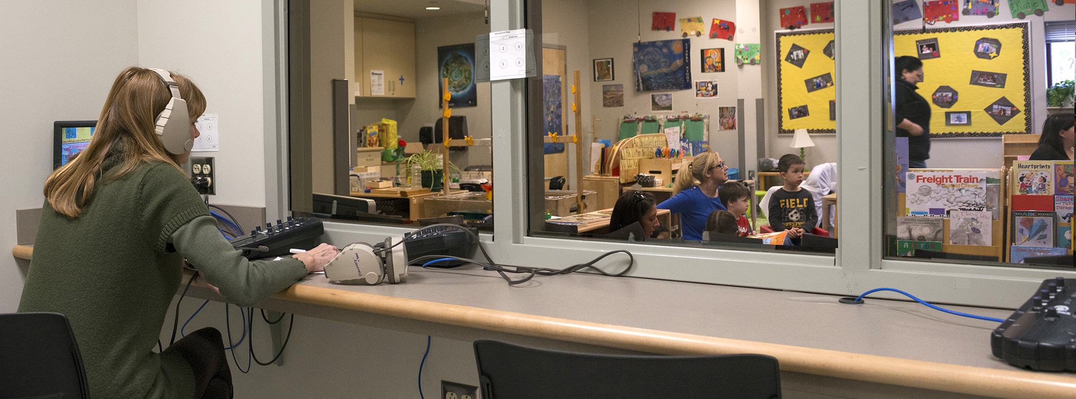 Observation room at the Early Learning Center