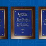 Three CEHD award plaques