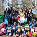 Early childhood education and engineering majors collaborated to build bird houses for UD's Children's Campus.