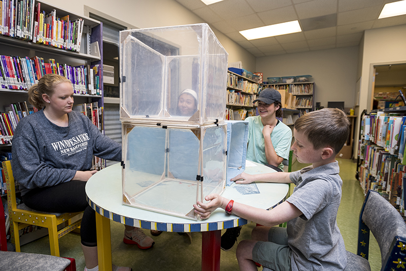 Toys that have been designed by Engineering students get a trial run with the children at the College School who play and give opinions on the best toys under the direction of Jennifer Gallo-Fox