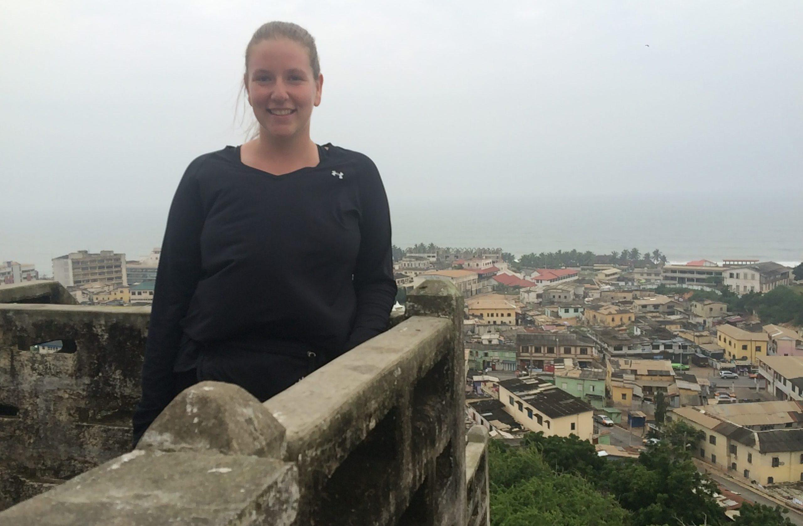 Danielle Fisher in Cape Coast, Ghana