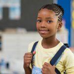 Black girl in classroom