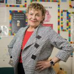 Roberta Golinkoff stands in the Child's Play, Learning and Development Lab at the University of Delaware