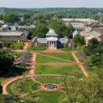 Aerial view of the University of Delaware campus