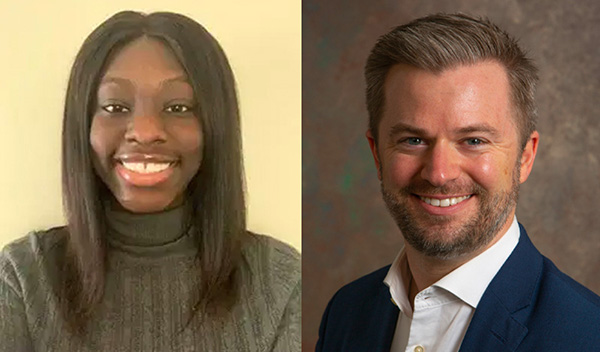Rachel Antwi and Bryan VanGronigen