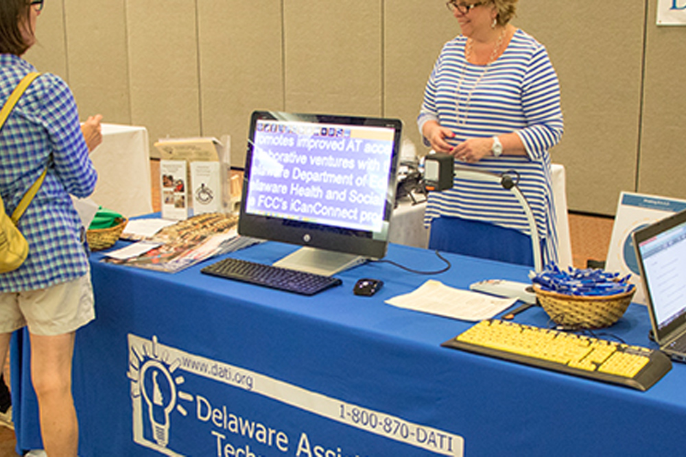 Delaware Assistive Technology Initiative table at fair